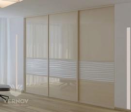 встроенный шкаф в гостиную во всю стену фото